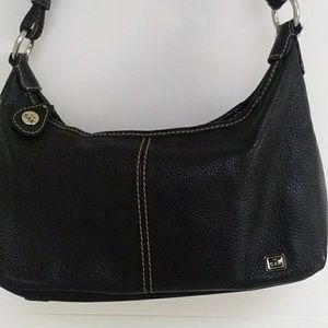The Sak Small Leather Hobo Black handbag purse